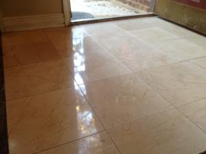 After Polishing Marble Floor