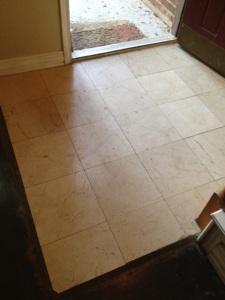 Before Polishing Marble Floor
