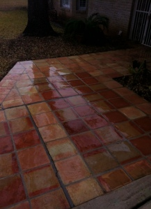 After Cleaning Saltillo Tile